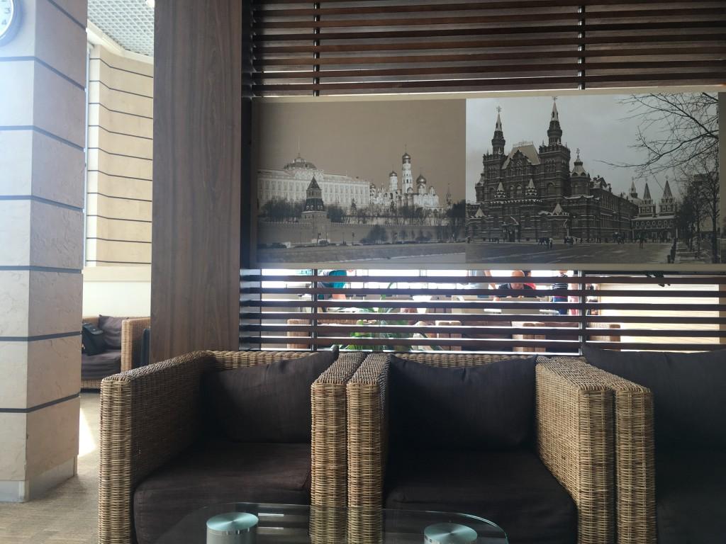 Стильный дизайн бизнес зала Домодедово