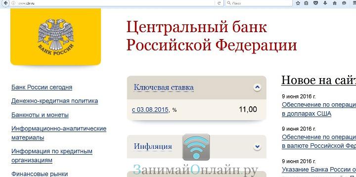 Официальный сайт Центробанка