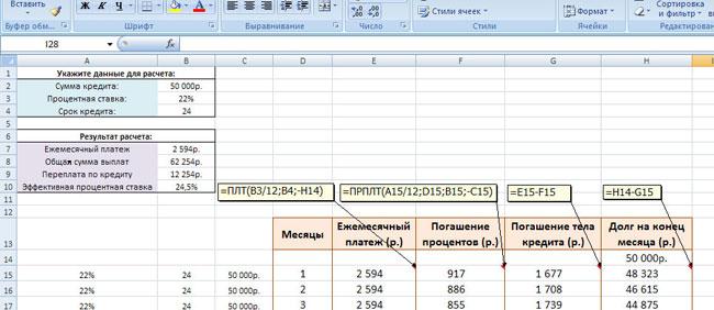 Расширенная и доработанная версия кредитного калькулятора
