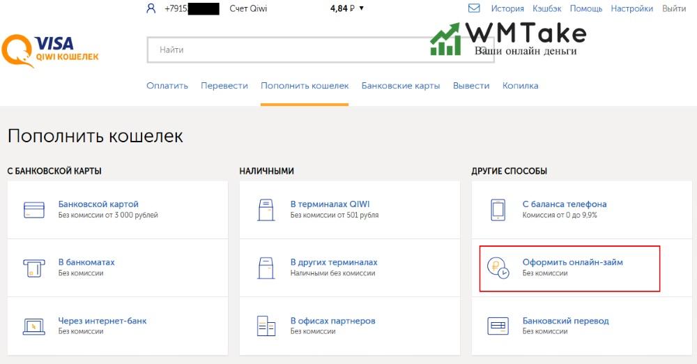 Занять 1000 рублей онлайн на киви