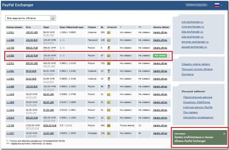 Обмен Paypal на Qiwi - самый выгодный курс обмена