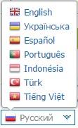 Рис. 2. Выбор языка на сайте вебмани